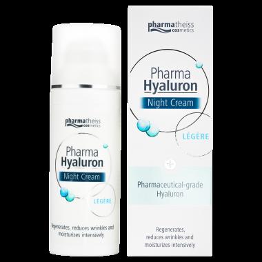 Pharma Hyaluron нічний крем для обличчя legere, 50 мл